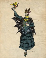 Victorian Batgirl and Robin.